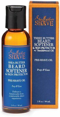 Three Butters Beard Softener & Skin Protector Pre-Shave Oil, Shea Moisture, 2 oz
