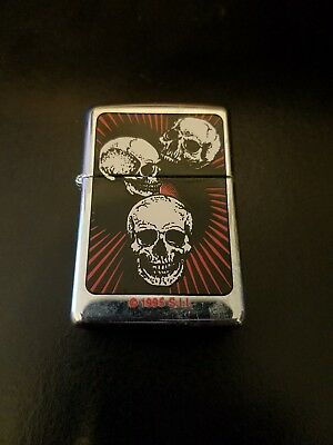 Collectible, gothic style, skulls Zippo. Excellent condition with original seal.