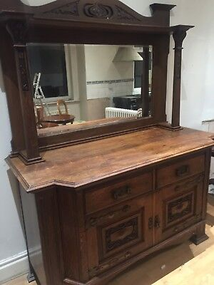 Arts And Craft Beautiful Oak Dresser