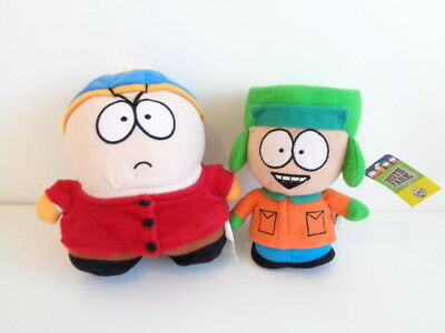 SOUTH PARK - 2 SOFT TOYS - ERIC CARTMAN & KYLE - One with tag