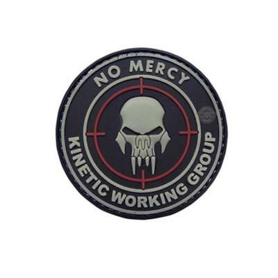 """5ive Star Gear No Mercy Kinetic Working Group Skull Morale Vinyl Patch - 2.25"""""""
