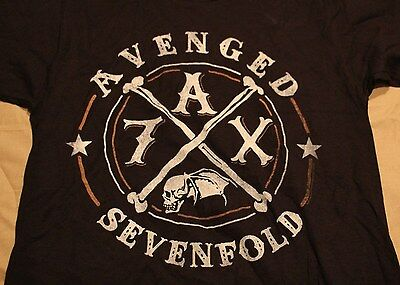 Avenged Sevenfold Black Graphic Rock Music Concert Tee T Shirt Tshirt Sz S