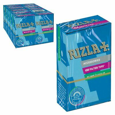 1500 filtri Rizla slim da 6 mm filtrini in stick da 6 mm per sigarette 10 box