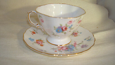 Hammersley & Co Bone China Tea Cup & Saucer Floral Pattern 6072