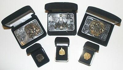 AMA Commemorative Belt Buckle and Pin Sets (3) NIB - Matching Numbers
