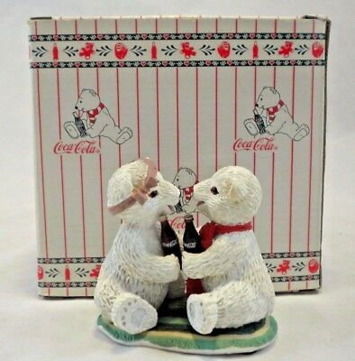 There's Nothing Like a Friend Coca Cola Polar Bear Cubs Coke Collection 1995