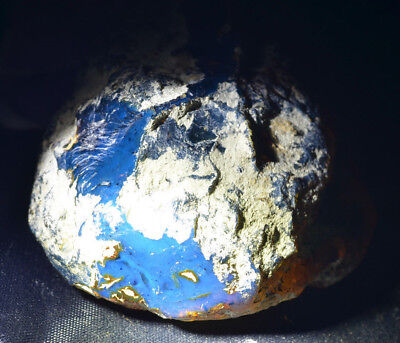Dominican Amber Blue Natural Gem stone rough bead collectible rock (92.4g) #1121