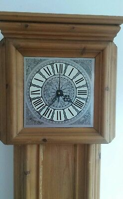 Pine Grandfather style  clock