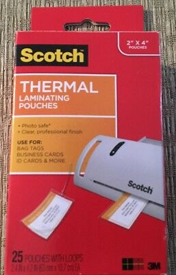 50 scotch 3m thermal laminating pouches business card size luggage 25 scotch 3m thermal laminating pouches business card size luggage tag laminates reheart Image collections