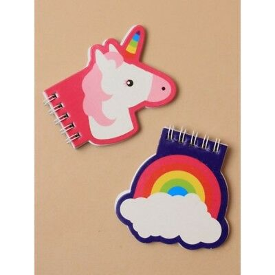4 x Children's unicorn & rainbow notebook gift, party/ loot bag etc UK SELLER
