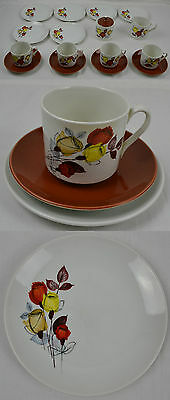 Myott Marrakesh Vintage Tea Set Retro Ironstone Cup Saucer Milk Jug Sugar Bowl