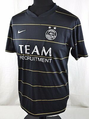 Aberdeen FC Away Short Sleeve Football Shirt S Small Nike Black Gold Yellow