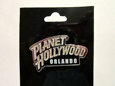"Planet Hollywood ""orlando"" Glitter Silvertone Original Pin - New"