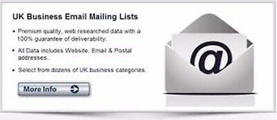 UK Business Email Database, There are 780000 Business database all Areas