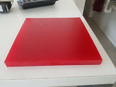 Red 90A Duro Polyurethane Pad 200 X 200 X 15Mm