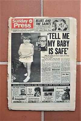 Melbourne Sunday Press newspaper first edition