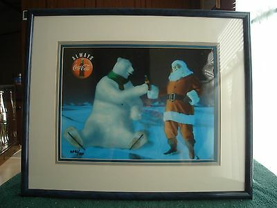 Very rare  Artist Proof  Number 92/200 with COA coca cola bear cels