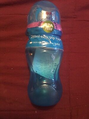 Tommee Tippee  Blue 260 Ml Easy Grip Sippy Cup New Free Post (l)