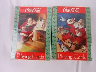 Coca Cola Holiday Christmas Playing Cards 2 Decks Sealed #334