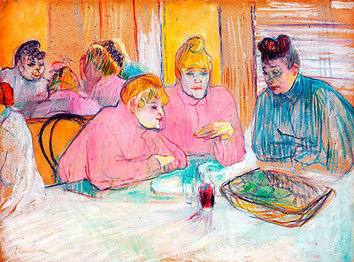The Ladies in the Dining Room by Henri de Toulouse-Lautrec A1 Quality Art Print