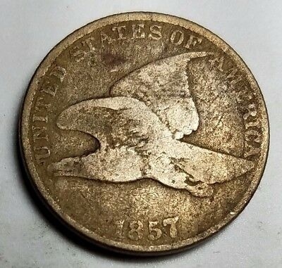 1857 Flying Eagle Cent-Km 85-1C-Good-G-Free Usa Shipping