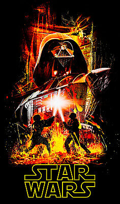Star Wars 01 Movie Poster A1 High Quality Canvas Print