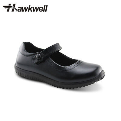 Hawkwell Girl's Mary Jane Flat School Uniform shoes Black Dress Oxford Toddler