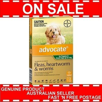 Advocate For Puppies and Small Dogs Up to 4kg 3 Pack  EXPIRY 11/2018