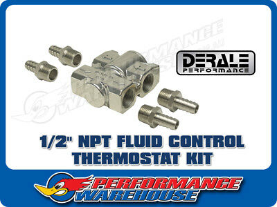 """Derale 1/2"""" Npt Fluid Control Thermostat Bypass Engine Cooler Kit 15719"""