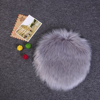 Fluffy Faux Fur Fake Sheep Skin Rug Soft Mat Bedroom Rug Small Carpet White Grey