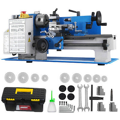 7x12 (18x30CM)Mini Metal Lathe working Machine Woodturning Milling Metalworking