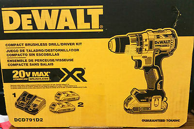 Dewalt 20VMAX XR Lithium-Ion 1/2 in.Cordless Brushless Compact Drill/Drive