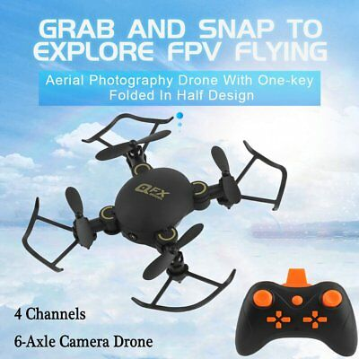 Mini Drone Q2 2.4GHz 4CH 6-Axis Gyro wifi RC Quadcopter with Camera 3D Fly Toys