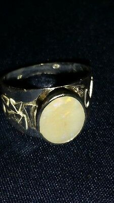 Opal sterling silver ring handcrafted