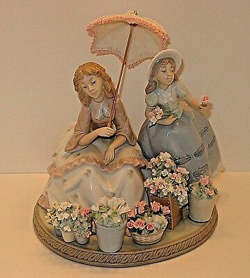 """VERY RARE! Vintage Lladro Porcelain """"FLOWERS FOR SALE"""" #5537  Retired Jose Puche"""