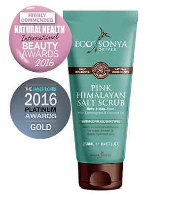ECO TAN Eco By Sonya Organic Pink Himalayan Salt Scrub Best Exfoliant Hydrating