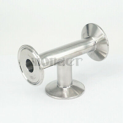 """3/4"""" 19mm Pipe OD x 1.5"""" Tri Clamp Tee 3 Way SUS304 Sanitary Fitting Homebrew"""