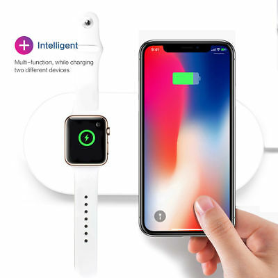2 in 1 Fast Wireless Charging Dock Stand Charger for iwatch Iphone 8 Apple Watch