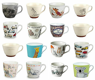 Set Of 6 Portobello Coffee Tea Mugs Cups For Home or Office - 17 DESIGNS TO PICK