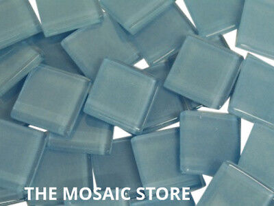 Light Blue Crystal Glass Mosaic Tiles 2cm - Art Craft Supplies