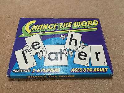Rare Vintage 1974 Spear's Change the Word board game