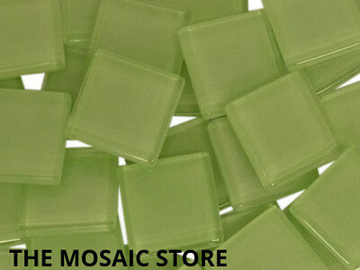 Light Green Crystal Glass Mosaic Tiles 2cm - Art & Craft Supplies