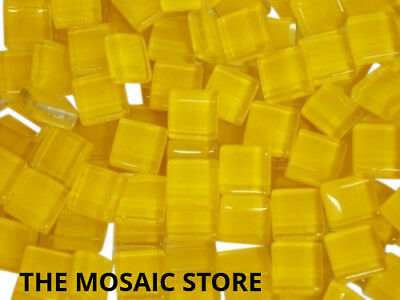 Yellow Crystal Glass Mosaic Tiles 1cm - Supplies Art Craft