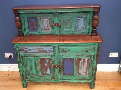 Antique hand painted Ercol 'Court Cabinet