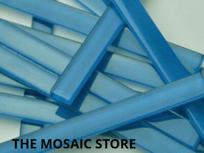 Blue Crystal Glass Mosaic Tile Strips 10x98x4mm - Art & Craft Supplies