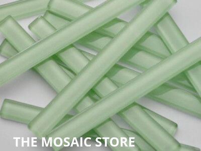 Light Green Crystal Glass Mosaic Tile Strips 10x98x4mm - Art & Craft Suppl