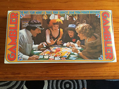 Rare Vintage 1975 Gambler Board Game (1975) by Toltoys - New in shrink wrap