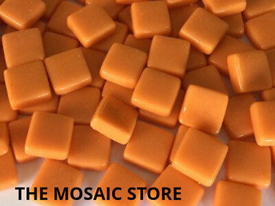 Orange Gloss Glass Tiles 1cm - Mosaic Tiles Art & Craft Supplies