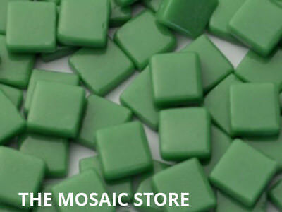 Green Gloss Glass Tiles 1cm - Mosaic Tiles Art & Craft Supplies