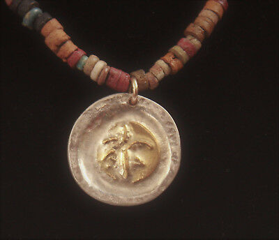 A special necklace, combines ancient Egyptian colored faience beads 1200-1300 BC